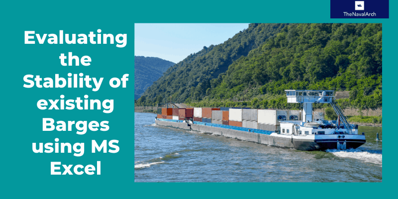Using MS Excel to evaluate the Stability of existing Barges
