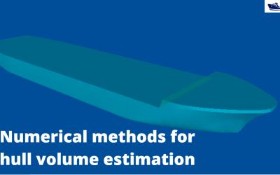 Numerical integration methods for hull volume estimation