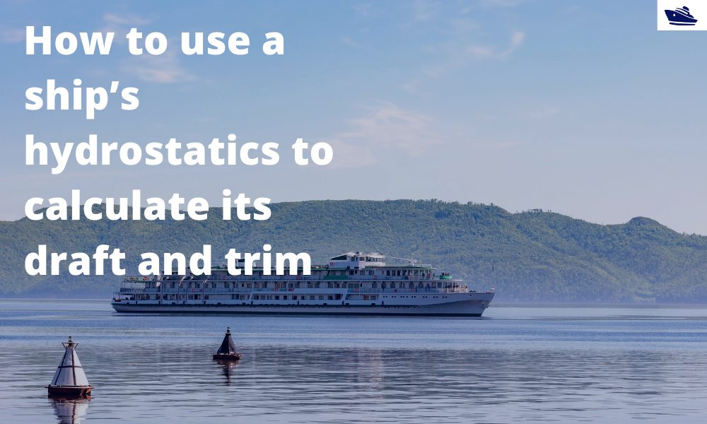 How to use a ship's hydrostatics to calculate its draft and trim