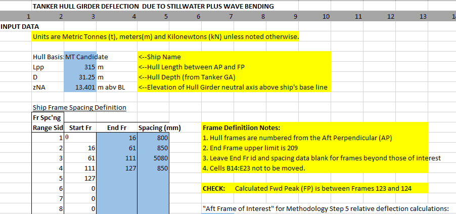 TNA Hull Deflection Calculator TheNavalArch 2