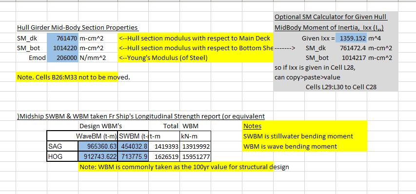 TNA Hull Deflection Calculator TheNavalArch 3